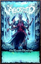 ABORTED Necrotic Manifesto 2014 Ltd Ed RARE New Poster +FREE Metal Rock Poster!