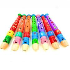 Baby Toddler Kids Musical Instrument Wooden Flute Whistle Educational Toys YU