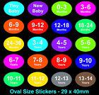 de Color Claro & Niños Ropa pegatinas tamaño - Etiquetas Adhesivas - PARA