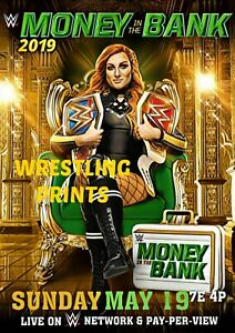 #302 MAKE YOUR SELECTION WWE MONEY IN THE BANK 2019 LYNCH A4 A3 A2 A1 POSTER