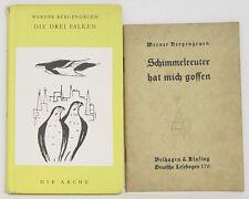 Novellen 2x Werner Bergengruen Schimmelreuter hat mich gossen/Die drei Falken