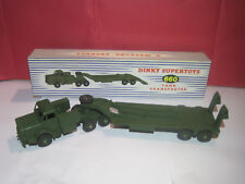 DINKY TOYS ENGLAND MILITAIRE MIGHTY ANTAR TRANSPORT DE CHAR NEUF BOITE #660
