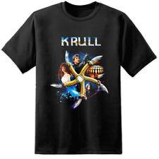 Cartel De Cine Para Hombre Retro Krull t shirt años 80 Sci Fi Fantasía Película Vintage Cueva de hombre