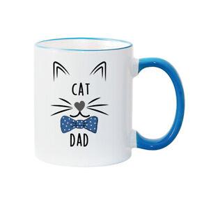 Cat Dad Mug (bow tie) Personalised Mug Father's Day Mug Dad gift Dad Christmas