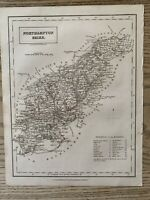 1833 NORTHAMPTONSHIRE ORIGINAL ANTIQUE COUNTY MAP BY SIDNEY HALL 186 YEARS OLD