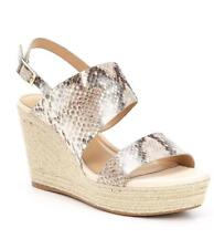 9f1e520786e5 Antonio Melani Natural Pinale Snake Print Wedge Sandals