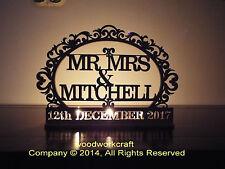 Personalised tea light holder, Mr&Mrs Surname and date, keepsake, wedding