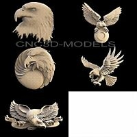 3D STL Models for CNC Router Engraver Carving Artcam Aspire Bird Eagle 1146