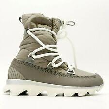 New Sorel Womens US 8 EU 39 Kinetic Gray Mid Waterproof Winter Lace Up Boots