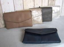 Clutch Kunstleder glatt Unterarmtasche Abendtasche Envelope Tasche