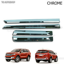 Chrome Line Side Door Cladding Molding Fit Ford Everest Suv 2.2 3.2 2016 2017