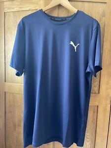 Puma Navy T Shirt Mens Size XXL Bnwt Genuine Designer