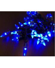 LED Lichterkette Partylichter 50 Lampen blau Tropfenform Weihnachtsbeleuchtung
