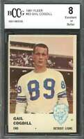 Gail Cogdill Rookie Card 1961 Fleer #83 Detroit Lions BGS BCCG 8