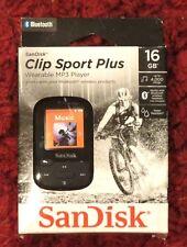 SanDisk - Clip Sport Plus 16Gb - Bluetooth Mp3 Player (Black) New>Free Shipping