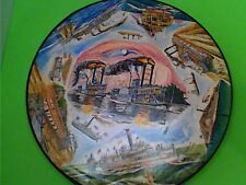 """Springbok Circular Puzzle """"Famous American Steamboats"""" 1969"""