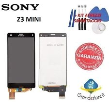 LCD DISPLAY SONY XPERIA Z3 COMPACT D5803 TOUCH SCREEN NERO  M55W Z3 MINI NUOVO