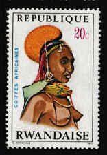 20c, RWANDA 'African Headdress' Stamp, issued 1970 - MNH/ Very Fine