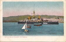 Postcard ShipR Marina Italiana Re Umberto