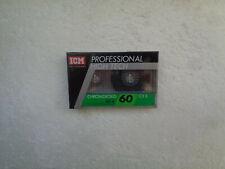 Vintage Audio Cassette ICM Chromdioxid CX II 60 * Rare From Switzerland 1980's *