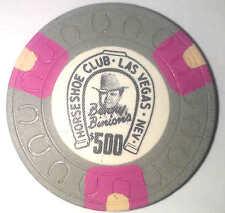 Binion's Horseshoe Obsolete $500 horseshoe mold casino chip