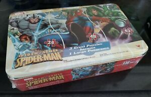 NEW! SPIDERMAN Jigsaw Puzzle in Tin box. 135 pieces. Unused & Sealed. *MARVEL*