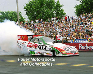 JOHN FORCE CASTROL FORD MUSTANG 2000 NHRA FUNNY CAR 8X10 PHOTO 16 TIME CHAMPION