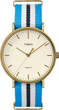 Timex TW2P91000 Weekender Indiglo Fairfield Full-Size BlueFabric Band Watch