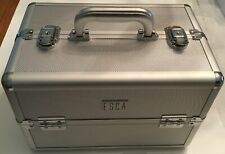 Esca Professional Make-up Cosmetic Metal Train Hard Case 3 Tier Inside NIB