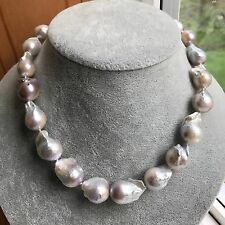 Baroque Pearl Necklace 15-18mm Large Baroque Pearl Necklace 18inch High Luster