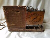 Vintage  Emerson Tube Radio Ingraham Wood AL168 Police Band Kilocycles