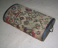 Antique Buggy Type Foot Warmer, Metal w/Cloth Covering, Pull Out Fuel Tray