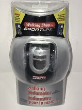Pedometer By Sportline With Safety Alarm 90dB Digital Clock & Daily Alarm NEW