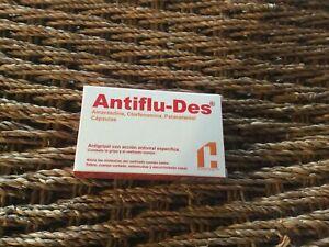 Antiflu-Des - cold and flu - New 24 capsulas 💊 Capsules Tablets