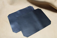 2 Stück Rindleder Blankleder schwarz, Lederstück 33x24,5 cm Dickleder, 2-2,2 mm