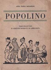 Anna Paola Bonazzoli - Popolino - II Edz. Morcelliana 1927 Autografato Brescia