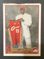 (DAMAGED) 2003-04 Topps LEBRON JAMES Rookie Card RC Cleveland Cavaliers #221