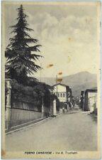 Cartolina Formato Piccolo - Forno Canavese - Via B. Truchetti Viaggiata
