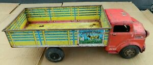 Vintage Marx Lazy Day Farms Registered Stock Tin Litho Truck 1950's Sold As/Is