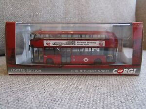 CORGI CP46617 NEW ROUTEMASTER WRIGHT BUS 70th ANN. HYBRID LONDON TRANSPORT BUSES
