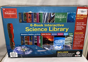 Encyclopedia Britannica 6-Book Interactive Science Library Set GUC Works