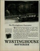 1922 Westinghouse Batteries Car Driving on Bridge Vintage Print Ad 3719