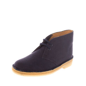 RRP €115 CLARKS Canvas Chukka Boots Size 36 UK 3.5 US 6 Lace Up Crepe Sole