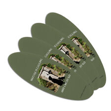 Nature is Calling I Must Go Outhouse Oval Nail File Emery Board 4 Pack