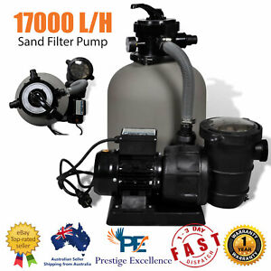Sand Filter Pump 600W 17000LPH Above Ground Swimming Pool Cleaning Filtration AU