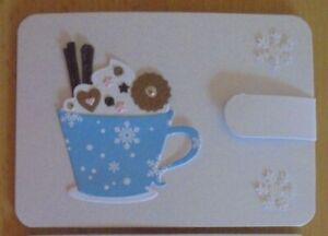 Geldgeschenk-Grusskarte °heisse Schokolade° für Geld - Winter Geburtstag