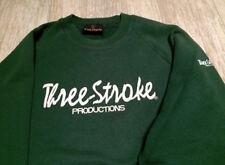 THREE STROKE - Felpa - Verde/logo bianco - Tg: L - Eccellenti condizioni