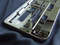 1 Stück Chrom Kennzeichenhalter Nummernschildhalter