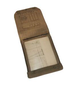 WW2 British Army 37 Pattern Webbing Dispatch Rider Map Case Bag 1944