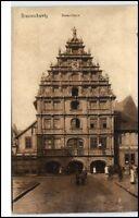 BRAUNSCHWEIG Niedersachsen AK um 1910/20 Personen vor dem Gewandhaus Postkarte